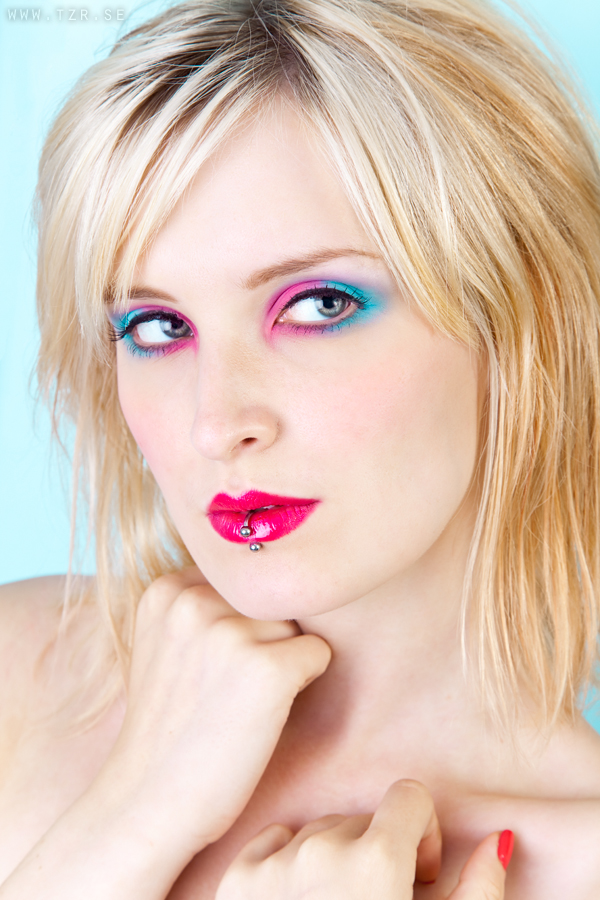 färgstark makeup